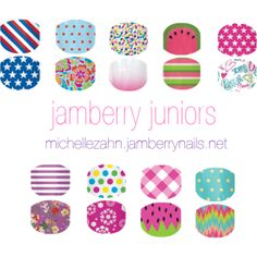 """""""Jamberry Nail Wraps - Jamberry Juniors Collection Spring/Summer 2014"""" by michelle-lynn-zahn on Polyvore"""