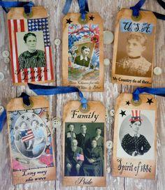 Patriotic Collage Tags