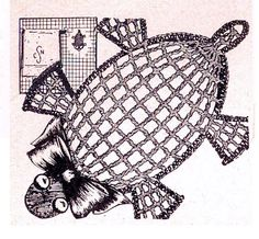 Washcloth Turtle Vintage Crochet Pattern