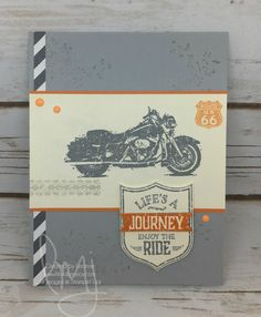 Enjoy Your Ride | Stampin\' Up! | One Wild Ride #literallymyjoy #masculine #motorcycle #bike #harley #tiretracks #tr66 #DawnGriffith #millondollarstampset #20162017AnnualCatalog