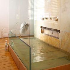awesome glass tub, home design, interior architecture. House Design, House, Glass Tub, Interior, Home, Dream Bathrooms, House Styles, Bathroom Decor, Beautiful Bathrooms