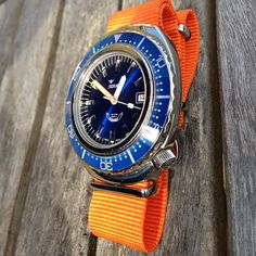 Squale 1000m 101 diving watch on orange nato strap. #WOMW #watches