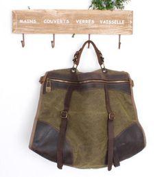 Kelly Canvas-Leather Tote/ Shopping bag / Shoulder Bag/ Woman bag/ Leather Satchel/Canvas bag. $79.00, via Etsy.