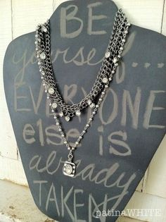 Oh we should do this to some of our jewel holders... paint chalkboard paint!