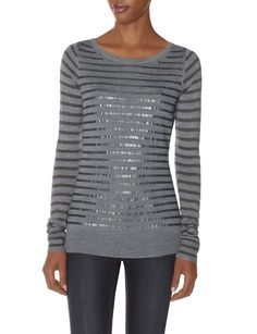 Sequin Boatneck Sweater | Women's Tops | THE LIMITED #TheLimited #TheSweaterShop
