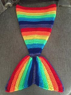 Mermaid Tail Crochet Pattern, 9 different sizes 2ft - 6ft