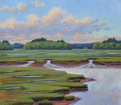 Harbor marshes, 28x32 oil