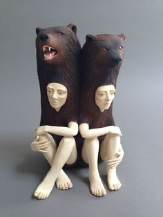 California-based artist Crystal Morey explores the relationship between humans and nature with her intriguing ceramic sculptures of people encased in animals. Using delicate and emotive gesture, rich texture, and subdued tones, Morey carefully molds the figurative sculptures from clay, creating pieces that are both striking and thought-provoking. With meditative poses and expressions, the hybrid figures contemplate the unknown future of the Earth and the impact of humans on the natural ...