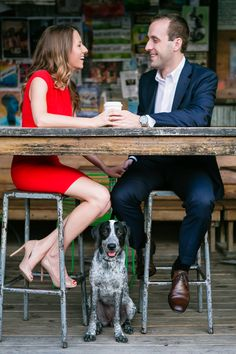 coffee shop engagement session | George Street Photo #wedding