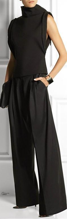 @roressclothes clothing ideas #women fashion black jumpsuit