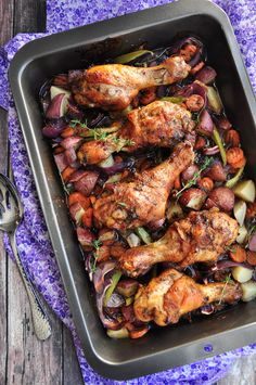 DelishPlan - One-Pan Caribbean Jerk Chicken With Vegetables -1