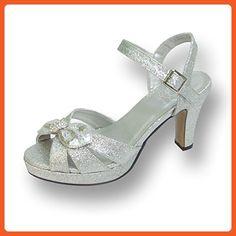 cdfa082c56ca Floral FIC Elva Women Wide Width High Heel Platform Dress Sandal and  Measurement Guides Floral Elva girls extra wide width evening dress sandal  for wedding