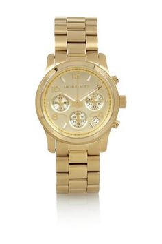 Gold-plated watch #watch #covetme #michaelkors
