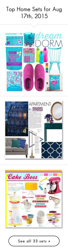 """""""Top Home Sets for Aug 17th, 2015"""" by polyvore ❤ liked on Polyvore featuring interior, interiors, interior design, home, home decor, interior decorating, O&G Studio, Lands' End, Matthew Williamson and Lilly Pulitzer"""