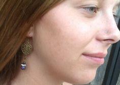 BoHo MuTeD PuRPLe EaRRiNGS/ women/ teen/ antiqued by Ivanwerks