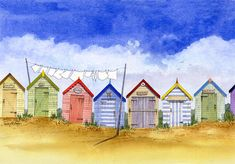 drawings of huts | Southwold Beach Huts
