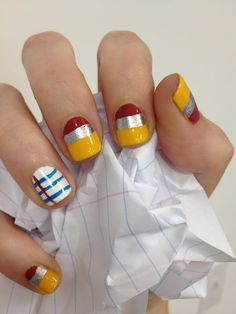 Paper and Pencil Nails