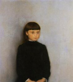 art-of-darkness:  Fernand Khnopff — Portrait of a Girl | Oil on canvas | Art of Darkness Daily Art Blog |  Fernand Khnopff — Portrait of a Girl   // Painting: Oil on canvas    // via Art of Darkness: Daily Art Blog