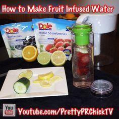 Recipes for Your Fruit Infuser Water Bottle| PrettyPRChickTV