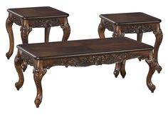 """Hughes Inlay  3 Piece Table Set  Coffee and 2 End Tables  With Starburst Inlay Veneer   $429.00   Coffee Table  50.25"""" x  26"""" x 19""""H   End Table  23.25"""" x 23.25"""" x 24"""" H    OAK 9400-13"""