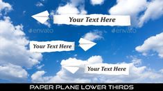Buy Paper Plane Lower Thirds by MondayMotion on VideoHive. Lower Thirds, Paper Plane, Sky And Clouds, Old Paper, Love You, My Love, Caption, Book Art, 10 Seconds