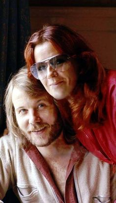 Benny Andersson and Frida.