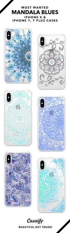 15 Most Popular Mandala Blues iPhone X, iPhone 7 Cases and iPhone 7 Plus Cases. More Patterns iPhone case here > https://www.casetify.com/collections/top_100_designs#/?vc=ZhIkIG4Zc7 #iphone10,