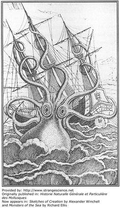 Map Sea Monster