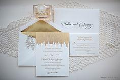Baumbirdy for Wedding Paper Divas Foil inviation Suite Jessica and Collin Art Deco Wedding Invitations, Wedding Paper Divas, Invites, Pink And Gold, Blush Pink, Orlando Wedding Photographer, Pipe Dream, Gold Art, Gold Wedding