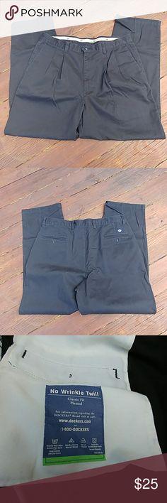 Mens Dockers 36x32 pants 36x32 pants no wrinkle twill Dockers Pants
