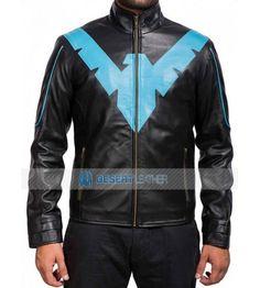 4cf8457b Batman Arkham Knight Nightwing Black Jacket.Buy now and get free shipping  worldwide! #