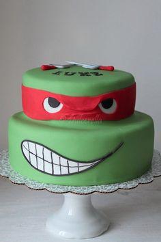 https://flic.kr/p/kcYEFx | Turtle Ninja Cake | Double chocolate cake with chocolate buttercream
