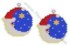 Santa Moon Earring Bead Pattern By ThreadABead