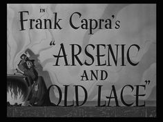 """handlettered titles for """"Arsenic and Old Lace"""""""