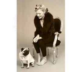 Vintage photo shoot #vintage #hairup #hair #retro #victoryrolls #pinup #pug www.lkhair.com
