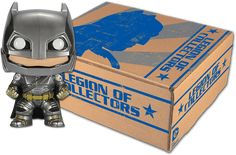 Funko's Legion of Collectors subscription club for DC items. The first box will have a Batman v. Superman Armored Batman Pop figure.