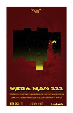 "Mega Man 3 Inspired Print ""Proto Man"".  via Etsy."