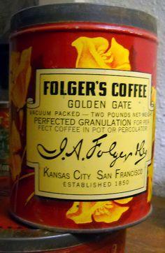 My aunt was Secretary to the President. Folgers Coffee, Top 10 Destinations, Cuppa Joe, Kansas City Missouri, Coffee Company, Secretary, Coffee Time, Tins, Beverages