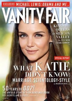 In the October 2012 issue, Vanity Fair special correspondent Maureen Orth reports that in 2004 Scientology embarked on a top-secret project headed by Shelly Miscavige, wife of Scientology chief David Miscavige, which involved finding a girlfriend for Tom Cruise. A publication teaser via Vanity Fair.