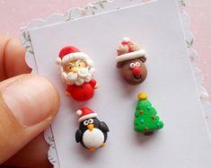 Set de pendientes de Navidad - Santa pendientes - pendientes - Navidad regalo - joyas para Navidad - regalos de Navidad - de Navidad Santa secreto regalo