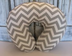 Love this! Boppy pillow Cover - Grey and White Chevron Print (everything at Babies R Us has ugly prints)