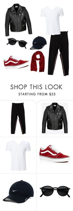 """Urban"" by dtcherinecastro ❤ liked on Polyvore featuring Jean-Paul Gaultier, Yves Saint Laurent, Simplex Apparel, Vans, NIKE, MSGM, men's fashion and menswear"