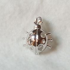 Lady Bug pearl Cage in Sterling Silver