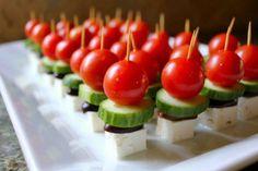Feta, Komkommer, zwarte olijven en cherrytomaatjes
