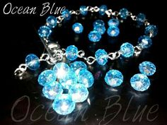 OceanBlue_Crystal bracelet_ Made of imitation crystal, shiny and luxurious look.