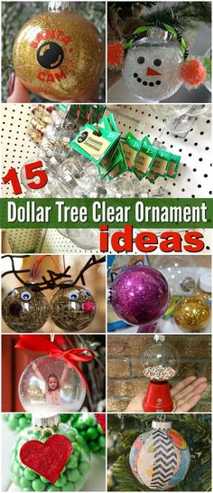 15 Inspiring Ways to Dress Up Dollar Tree Clear Ball Christmas Ornaments Consider personalizing clear ball ornaments as an easy and frugal Christmas project. They're a blank canvas for creativity, and a really fun holiday craft activity for all ages! Clear Christmas Ornaments, Christmas Ornaments To Make, Personalized Christmas Ornaments, Easy To Make Christmas Ornaments, Vinyl Ornaments, Clear Plastic Ornaments, Ornament Tree, Clear Ornaments, Christmas Balls Decorations