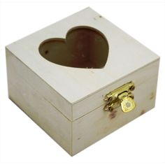 Small Wooden Heart Box | Craft Storage at The Works