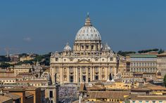 Download wallpapers Saint Peters Basilica, Cathedral, Vatican, Rome, Italy, ancient architecture, Baroque architecture, Renaissance architecture