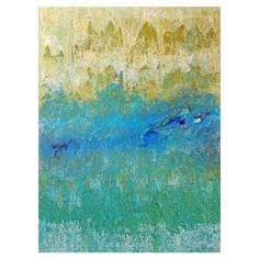 Abstract giclee print on canvas with eco-friendly dyes.  Product: Giclee Construction Material: Canvas