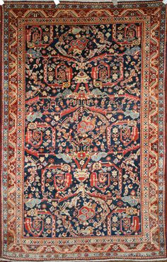Persian Hand-Knotted Meshkabad Rug in Wool (Cotton Foundation) - Ref: 56 - 2.00m x 1.34m